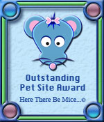 Here There Be Mice...© Outstanding Pet Site Award Graphic